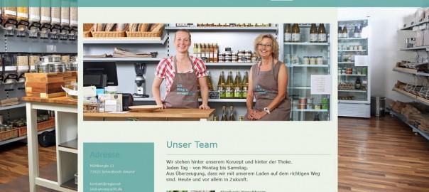 Screenshot der Website des plastikfreien Supermarkts unverpackt gd